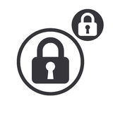 Padlock lock vector simple single color icon isolated on white b Royalty Free Stock Photo