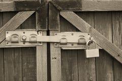 Padlock and a locking bar Royalty Free Stock Image