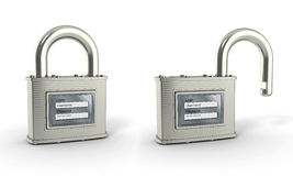 Padlock with login and password Stock Image