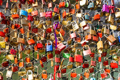 Padlock of love Royalty Free Stock Photo