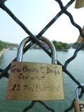 Padlock for love Royalty Free Stock Image