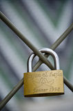 Padlock of love. In the city of Wien Royalty Free Stock Images