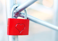 Padlock for love Royalty Free Stock Photo