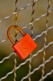 Padlock of love with heart shape Royalty Free Stock Images