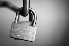 The padlock of love in Venice Royalty Free Stock Photography