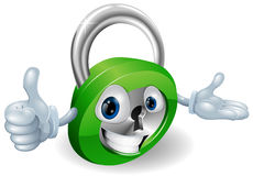 Padlock mascot illustration Royalty Free Stock Image