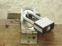 Padlock of master key Royalty Free Stock Photo