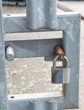 Padlock on a metal gate Royalty Free Stock Images