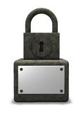 Padlock monument Royalty Free Stock Photography