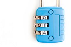 Padlock with numbers stock images