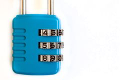 Padlock with numbers royalty free stock photos