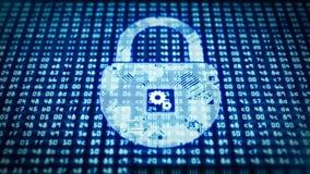 Padlock o circuito como um símbolo da proteção de informação Fotos de Stock Royalty Free