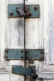 Padlock on old closed door Royalty Free Stock Photography