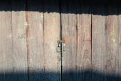 Padlock and old door hasp Royalty Free Stock Image