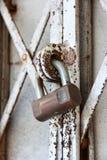 Padlock on an old gate Stock Photos