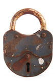 Padlock old isolated Stock Photography