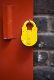 Padlock on the old metal gate Royalty Free Stock Image