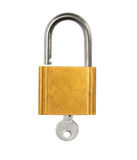 Padlock open key Royalty Free Stock Photography