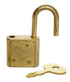 Padlock opening Royalty Free Stock Images