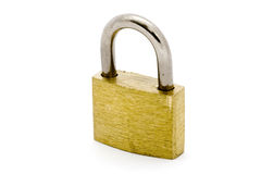 Padlock over white Royalty Free Stock Images