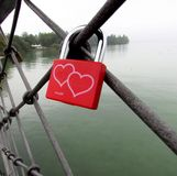 Padlock. The padlock, and the promise of the love Royalty Free Stock Photography
