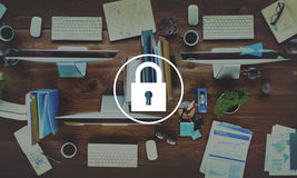 Padlock Protect Password Security Symbol Concept Stock Photo