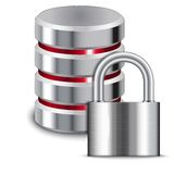 Padlock Protects Database Royalty Free Stock Photography