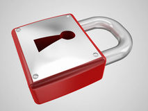 padlock red Royaltyfri Foto