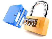 Padlock with ring binder Royalty Free Stock Photography