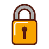 Padlock security isolated icon Stock Photo