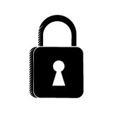 Padlock security system technology pictogram Stock Photo