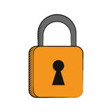 Padlock security system technology Stock Image