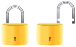 Padlock set Stock Images