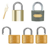 Padlock Set Royalty Free Stock Photo
