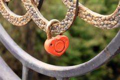 Padlock shape heart. Symbol of love. Stock Image