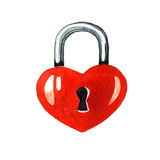 Padlock in the shape of a heart stock photos