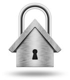 Padlock in the shape of the house Royalty Free Stock Images