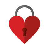 Padlock shaped heart loved Stock Images