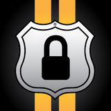Padlock shield. Over black background vector illustration Royalty Free Stock Images