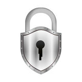 Padlock with shield shape body and shackle Stock Photography