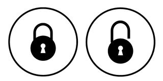 Padlock symbol Royalty Free Stock Photography