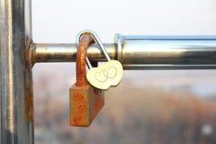 Padlock symbol of love. stock photography