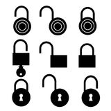 Padlock symbol set Royalty Free Stock Photography