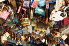 padlock texture as tourist vandalism royalty free stock image