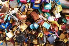 padlock texture as tourist vandalism stock photos