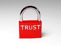 Padlock of trust Stock Image