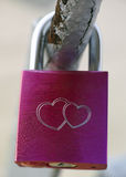 Padlock with two hearts Royalty Free Stock Photos