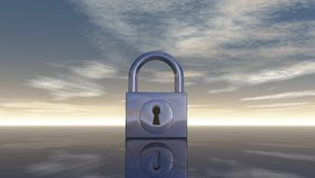 Padlock under blue sky Royalty Free Stock Photo