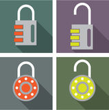 Padlock unlocked locked vector Stock Photo