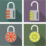 Padlock unlocked locked vector Stock Photo